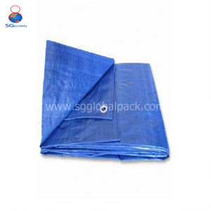 Blaues ZWEISCHICHTIGHDPE gesponnenes Tarps auf Verkauf