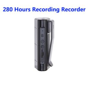 8 Go de 280 heures d'enregistrement audio de Voice Recorder avec lecteur MP3 Clip magnétique puissante