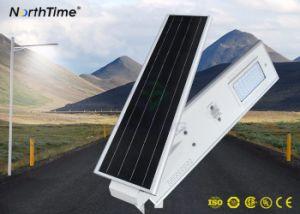 60W integriertes angeschaltenes LED Straßenlaternesolar mit Bewegungs-Fühler