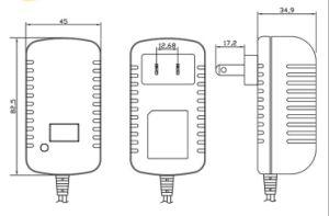12.6V 리튬 이온 건전지 충전기 0.8A