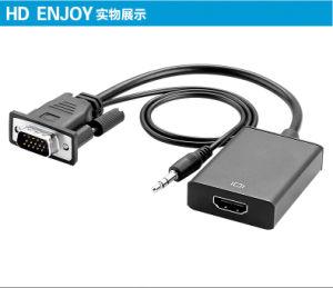 Analog-Digitalvideo-audiokonverter 1080P für PC Laptop zum HDTV-Projekt VGA-Mann HDMI zum weiblichen Kabel-Adapter-Konverter