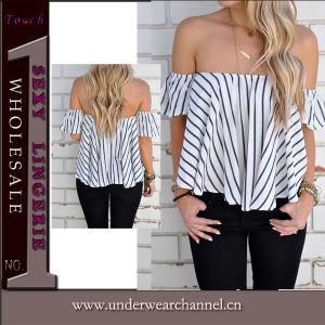 Nouveau design Fashion femmes faible Retour haut de page Shirt (TGLDS0971)