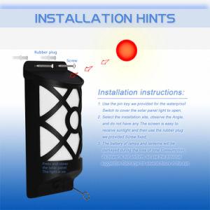 IP65 imprägniern helles Steuerfühler-Sonnenkollektor-Sicherheits-Wand-Lichter