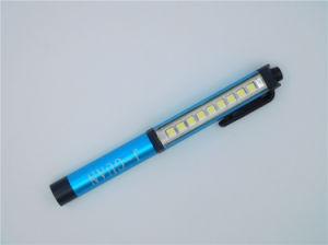 Magetic基礎青いボタンスイッチペンクリップ働くライト