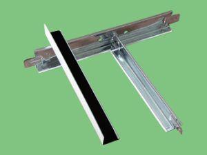 Grade de T no teto de gesso e painel de forro de PVC 595x595