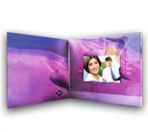 Cartão de felicitações de Vídeo LCD para o evento /Concert Hall, Visor de Promoção de placa de vídeo do produto