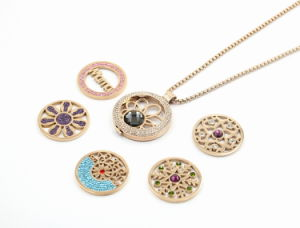 Ultimo Design Stainless Steel Floating Locket con Interchangeable Coines