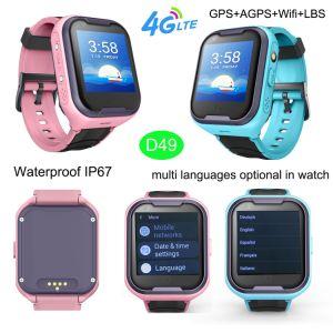 IP67 het waterdichte 4G GPS van Jonge geitjes Slimme Horloge van de Drijver met Individuele VideoVraag D49