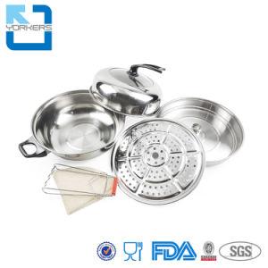 中国の熱い鍋の汽船のステンレス鋼の標準的な調理の鍋