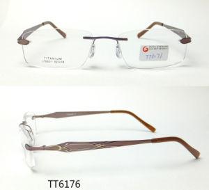 Het Optische Frame van Frameless van het titanium met Ce en FDA (TT 6176)