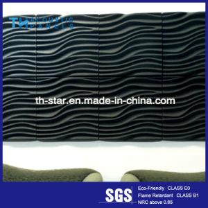 Fibre polyester Retartant de flamme de l'intérieur du panneau décoratif Mur 3D pour l'Hôtel-Restaurant