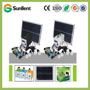 Su uso en casa portátil 20W DC Mini sistema de Energía Solar