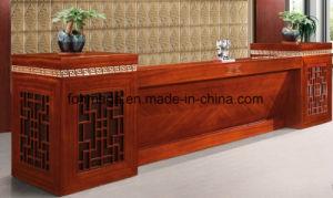Bureau de design de luxe en bois de placage table de réception