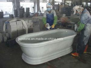 Vasca da bagno di pietra di marmo naturale del granito del basamento ...