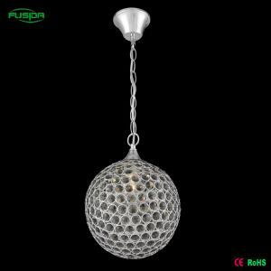 Simplicidade moderna iluminação lâmpadas pendente de cristal de inlay de mão