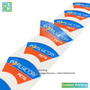 Custom печати PP самоклеящаяся виниловая пленка ПВХ кабеля клейкой этикетки