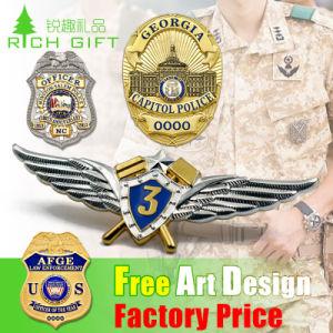 Mayorista personalizado/Metal/botón/polo/estaño/Policía/militar/emblema/nombre/esmalte/Insignia Insignia de la medalla (CAR)