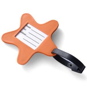 Nuevo diseño Custom de PVC suave forma de estrella de la etiqueta de equipaje