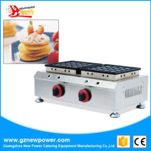 25+25 Poffertjes gás Grill waffle cafeteira panqueca de orifícios na venda