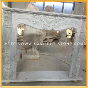 De Witte Marmeren Open haard van Italië Bianco Carrara voor Uw Huis