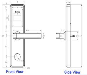 Luxuxschlüsselkarten-elektrischer Tür-Hotel-Verschluss mit Software