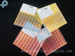 異なった角度は示す別のカラー勾配パターン芸術の薄板にされたガラス(LG-TP)を