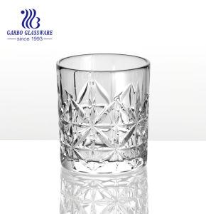 新しい茶ガラス製品の花デザインハンドル(GB091805YH)が付いているガラス茶マグ