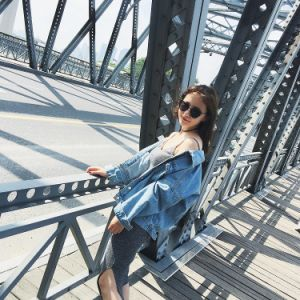 Rivestimento popolare e caldo del denim 100%Cotton Jean di vendita per le donne