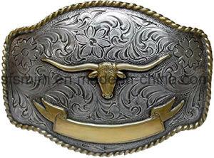 Nach Maß westliche u. Cowboy-lederne Gürtelschnalle