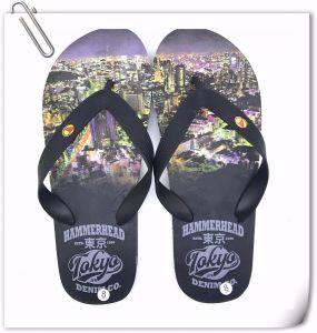 Nouvelle promotion Summer hommes pantoufles avec des lettres de l'impression chaussures occasionnel Cheap Flip Flops