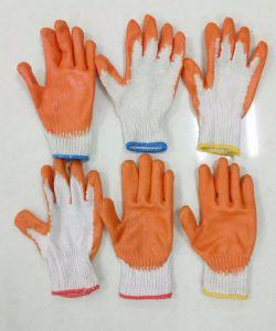 Griff-Latex beschichtete Baumwollkaltes Wetter-Arbeits-Handschuhe