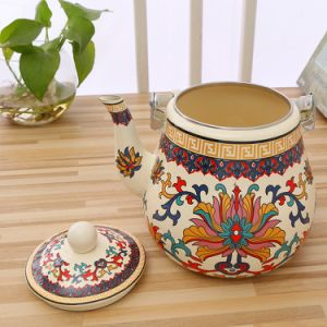 3.5Lナシの形陶器のハンドルのエナメルのやかん