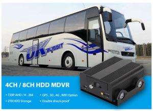 Bestes Kanal-Auto bewegliches DVR des Zubehör-720p der Auflösung-HD 4 mit GPS 4G WiFi