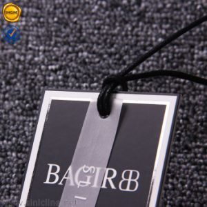 Sinicline kundenspezifische schwarze Luxuxfolie, die Hangtag stempelt