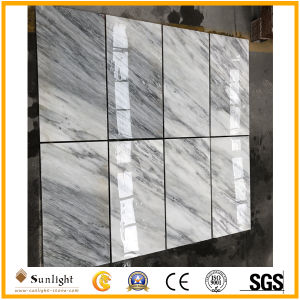 高品質のEsternの灰色の静脈が付いている白い大理石の中国白の大理石のタイル