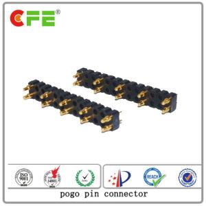 電池コネクターの倍の列10pinのすくいのPogoのピンコネクタ