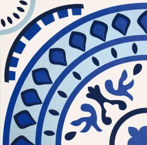 Blauwe Mediterrane Stijl Verglaasde Decoratie Tile20*20cm