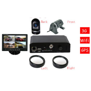 SD de 128g Mobile DVR 4 Canales grabador de vídeo de vehículo