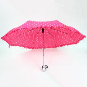Tejido de impresión de apertura y cierre automático paraguas para niñas