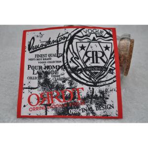 precio de fábrica de tejido de poliéster etiqueta Germent