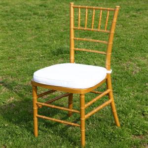 Goldhochzeits-Harz-Tiffany-Stuhl mit Kissen
