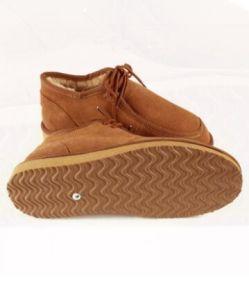 D'affaires décontractée Chaussures pour hommes avec la chaussure de la dentelle en châtaignier