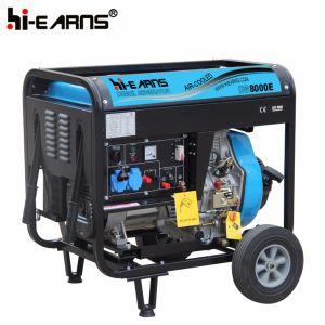 Air-Cooled на открытой раме тип дизельный генератор однофазный (DG8000E)