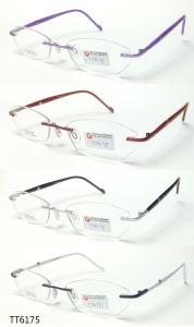 Het Optische Frame van Frameless van het titanium met Ce en FDA (TT 6175)