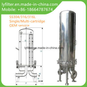 La precisión de acero inoxidable sanitario único buque de la caja del filtro de cartucho Multi