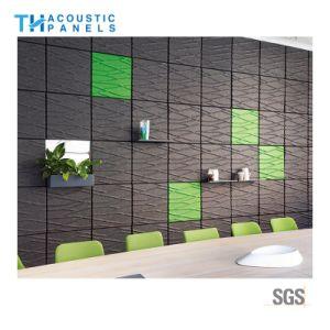 Feu de l'intérieur en fibre de polyester d'Épreuvage décoratif Panneau mural 3D pour l'Hôtel-Restaurant