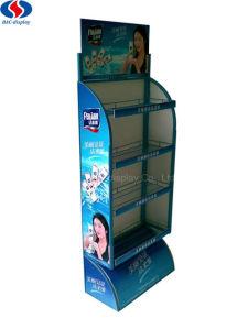 4 Schichten Fußboden-Typ Metallkosmetik-Ausstellungsstand-Bildschirmanzeige-Zahnstange