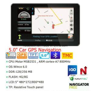 Venda 5,0 de mão veículo automóvel Marine navegação GPS com GPS Android Satnav WiFi, transmissor FM, entrada AV-in para o estacionamento do sistema de navegação GPS da Câmara, Tracker