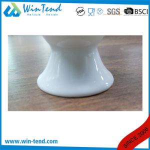 Manufacture de gros de l'Hôtel Restaurant Buffet de cuisine en porcelaine blanche coupe d'oeufs