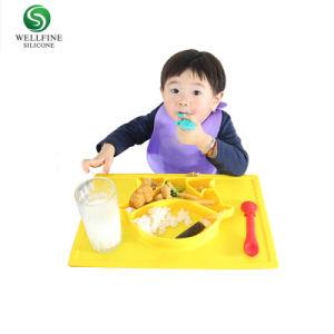 Dîner de silicone de qualité alimentaire de la plaque de bébé